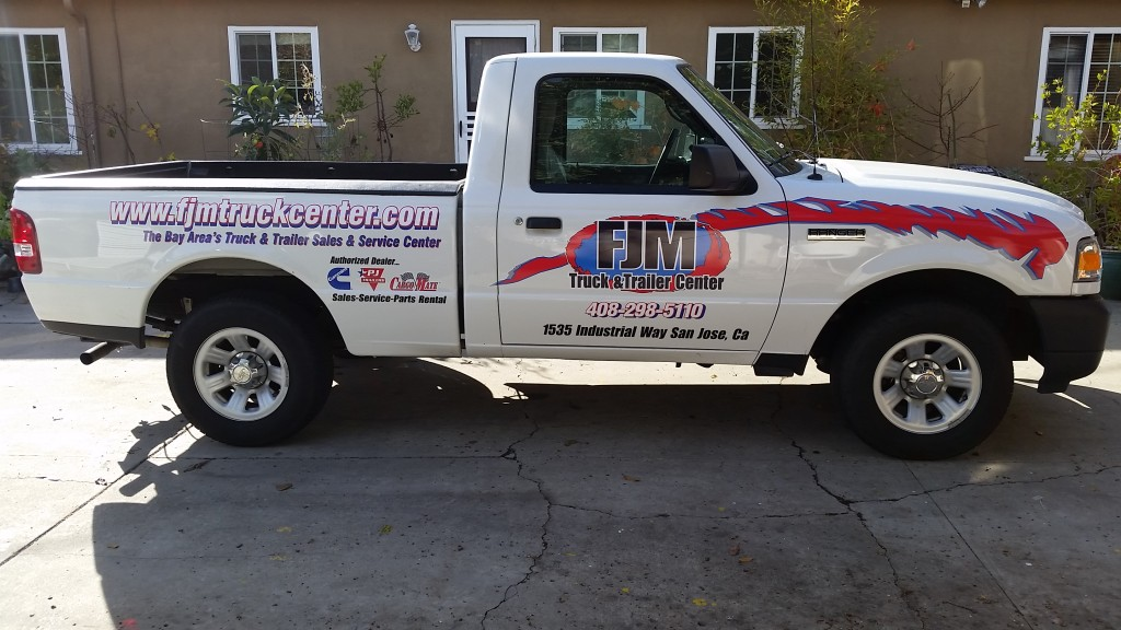 FJM ford pick up printed vinyl and contour cut.